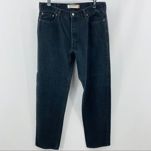 Levi's 550 Black Five Pocket Relaxed Fit Jeans